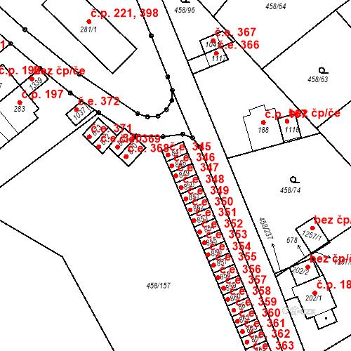 Katastrální mapa Stavební objekt Adamov 347, Adamov