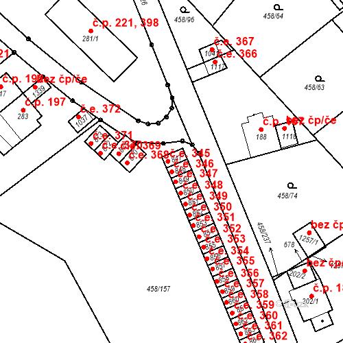 Katastrální mapa Stavební objekt Adamov 346, Adamov