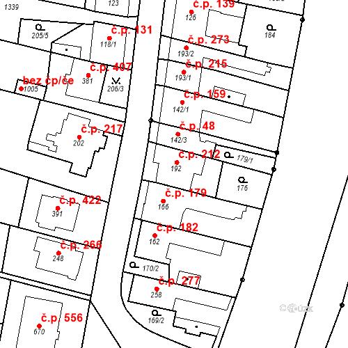 Katastrální mapa Stavební objekt Bílovice nad Svitavou 212, Bílovice nad Svitavou