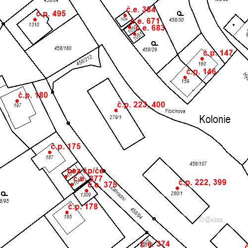 Katastrální mapa Stavební objekt Adamov 223, 400, Adamov