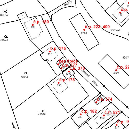 Katastrální mapa Stavební objekt Adamov 377, Adamov