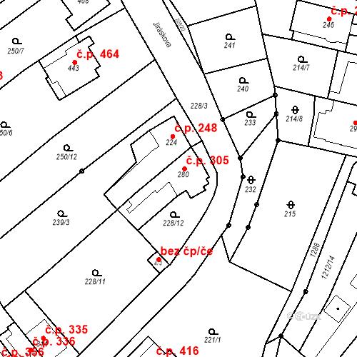 Katastrální mapa Stavební objekt Bílovice nad Svitavou 305, Bílovice nad Svitavou