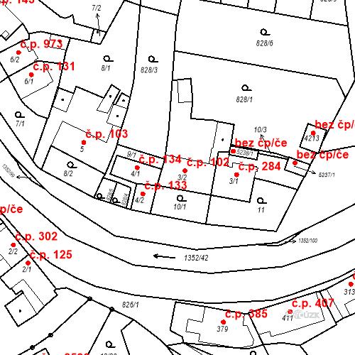 Katastrální mapa Stavební objekt Blansko 102, Blansko
