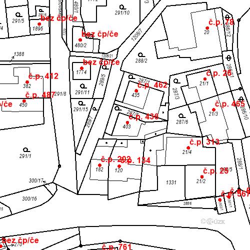Katastrální mapa Stavební objekt Bílovice nad Svitavou 436, Bílovice nad Svitavou