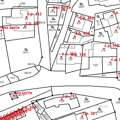 Katastrální mapa Stavební objekt Bílovice nad Svitavou 202, Bílovice nad Svitavou