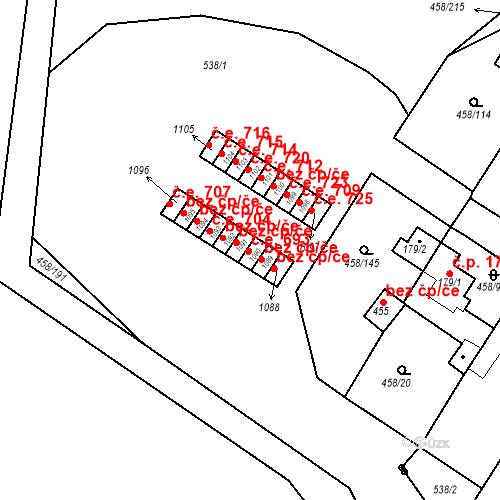 Katastrální mapa Stavební objekt Adamov 693, Adamov