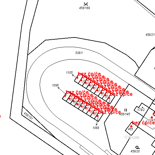 Katastrální mapa Stavební objekt Adamov 716, Adamov