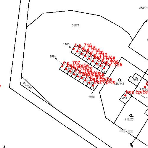 Katastrální mapa Stavební objekt Adamov 704, Adamov