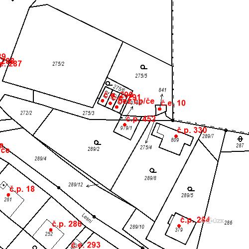 Katastrální mapa Stavební objekt Adamov 452, Adamov