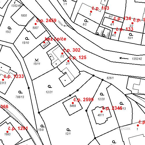 Katastrální mapa Stavební objekt Blansko 125, Blansko