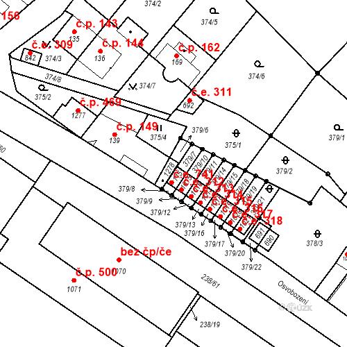 Katastrální mapa Stavební objekt Adamov 741, Adamov