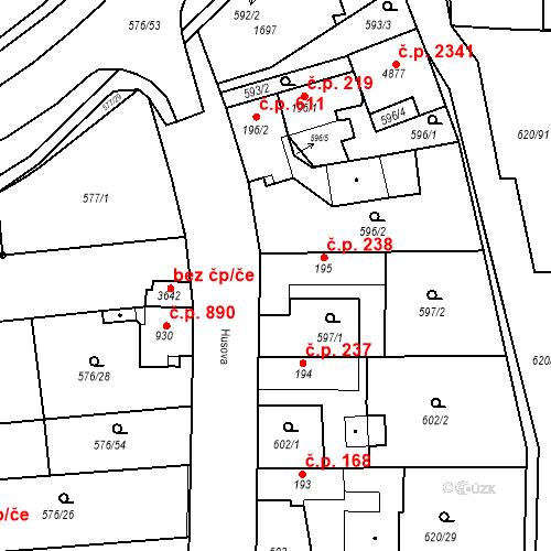 Katastrální mapa Stavební objekt Blansko 238, Blansko