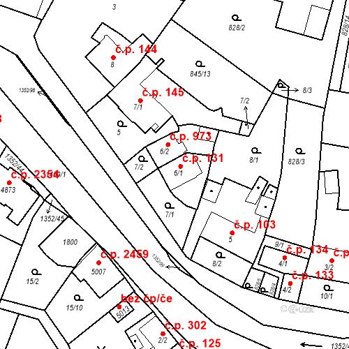Katastrální mapa Stavební objekt Blansko 131, Blansko