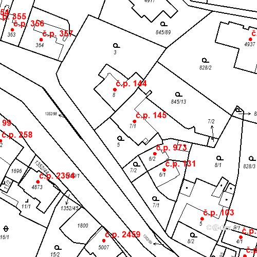 Katastrální mapa Stavební objekt Blansko 145, Blansko