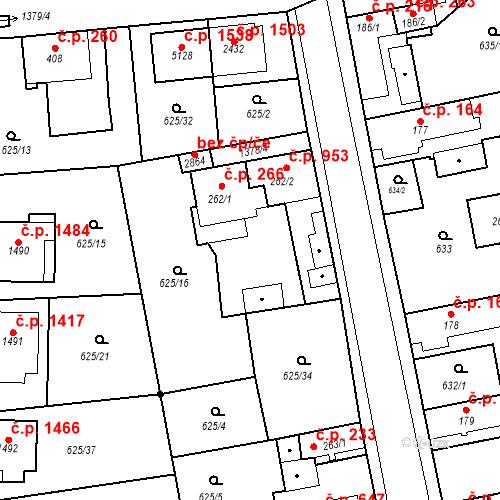 Katastrální mapa Stavební objekt Blansko 266, Blansko