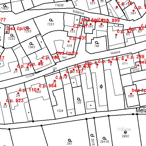 Katastrální mapa Stavební objekt Bílovice nad Svitavou 537, Bílovice nad Svitavou