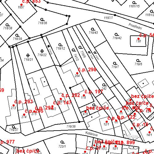 Katastrální mapa Stavební objekt Bílovice nad Svitavou 298, Bílovice nad Svitavou