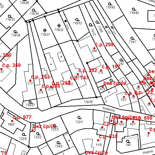 Katastrální mapa Stavební objekt Bílovice nad Svitavou 282, Bílovice nad Svitavou