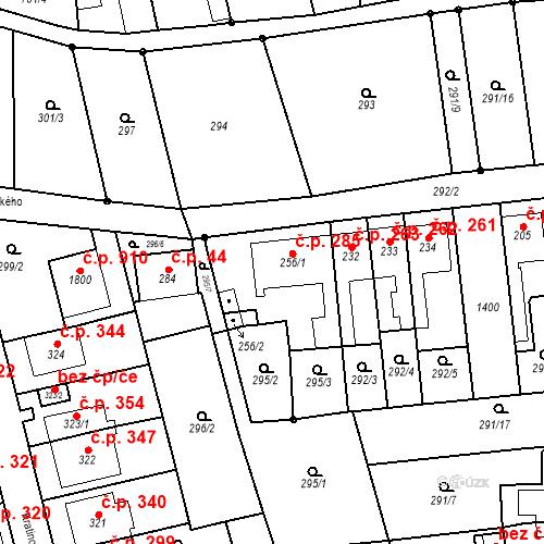 Katastrální mapa Stavební objekt Bílovice nad Svitavou 285, Bílovice nad Svitavou