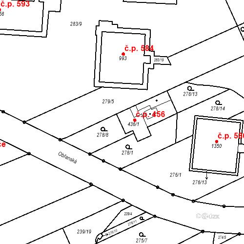 Katastrální mapa Stavební objekt Bílovice nad Svitavou 456, Bílovice nad Svitavou