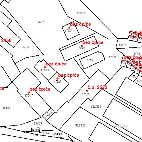 Katastrální mapa Stavební objekt Blansko 254, Blansko