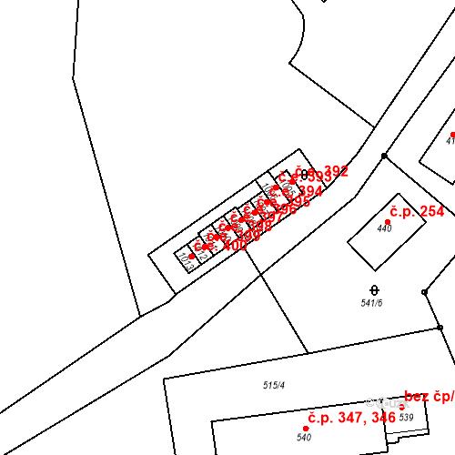 Katastrální mapa Stavební objekt Adamov 397, Adamov