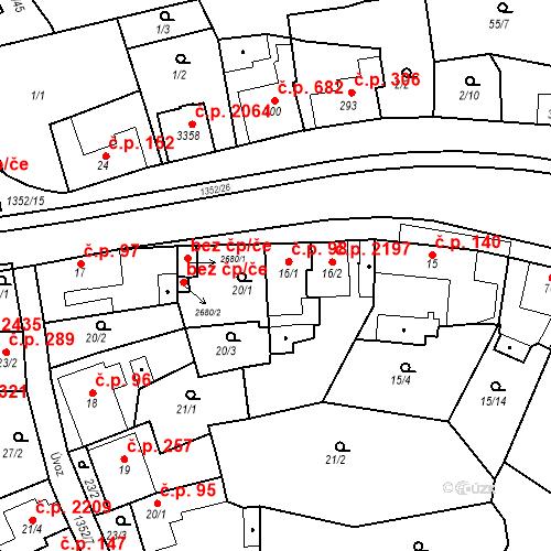 Katastrální mapa Stavební objekt Blansko 98, Blansko