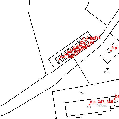 Katastrální mapa Stavební objekt Adamov 400, Adamov