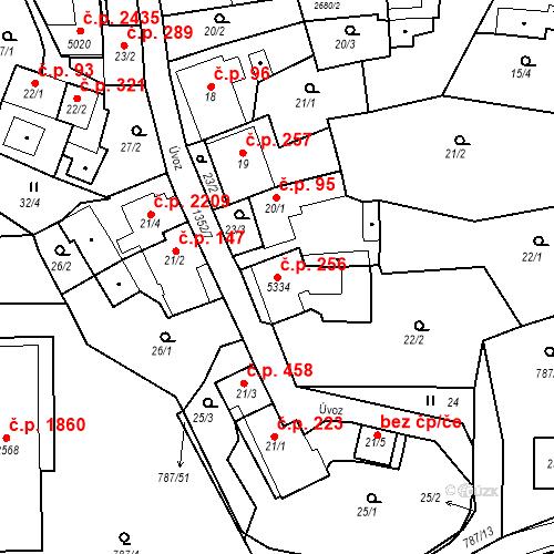 Katastrální mapa Stavební objekt Blansko 256, Blansko