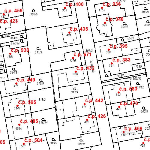 Katastrální mapa Stavební objekt Bílovice nad Svitavou 432, Bílovice nad Svitavou