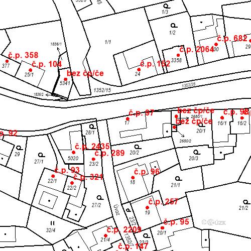 Katastrální mapa Stavební objekt Blansko 97, Blansko