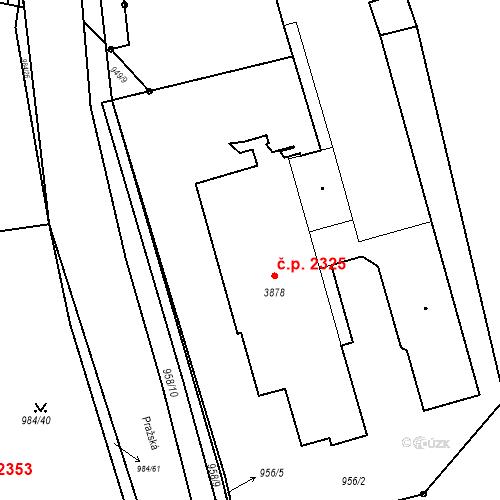 Katastrální mapa Stavební objekt Blansko 2325, Blansko