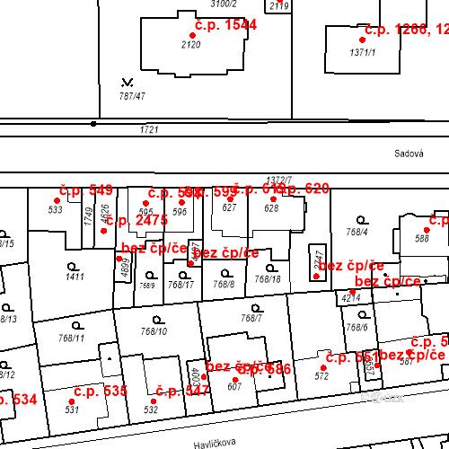 Katastrální mapa Stavební objekt Blansko 619, Blansko