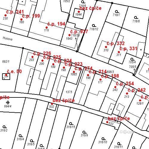 Katastrální mapa Stavební objekt Bílovice nad Svitavou 213, Bílovice nad Svitavou