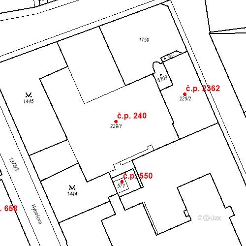 Katastrální mapa Stavební objekt Blansko 240, Blansko