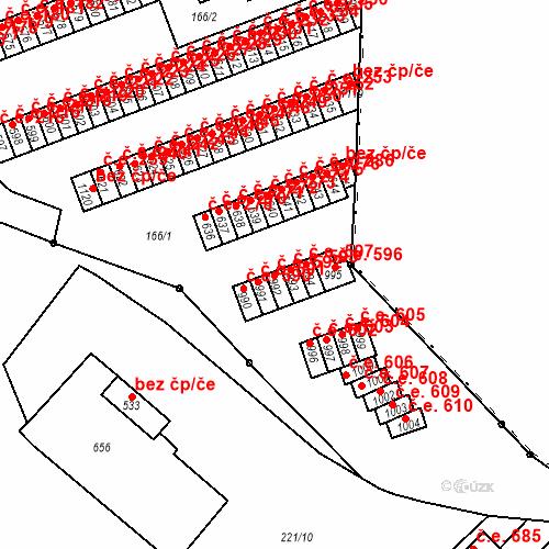 Katastrální mapa Stavební objekt Adamov 592, Adamov