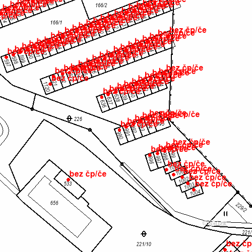 Katastrální mapa Stavební objekt Adamov 591, Adamov