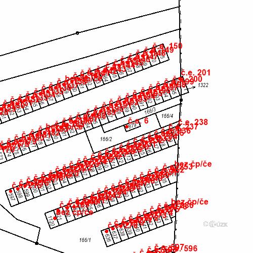 Katastrální mapa Stavební objekt Adamov 6, Adamov