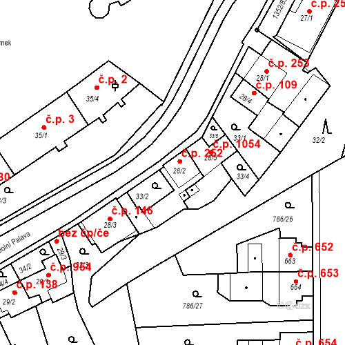 Katastrální mapa Stavební objekt Blansko 252, Blansko