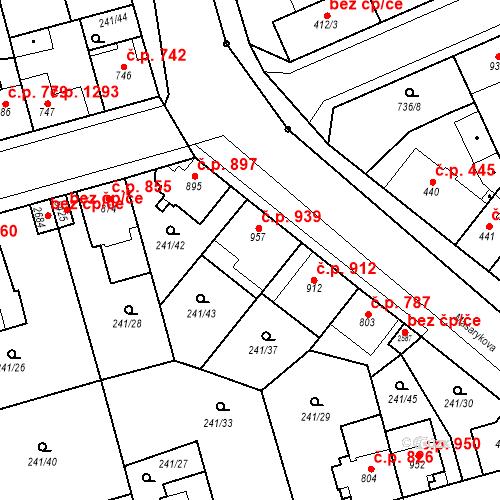 Katastrální mapa Stavební objekt Blansko 939, Blansko