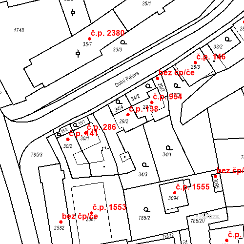 Katastrální mapa Stavební objekt Blansko 138, Blansko