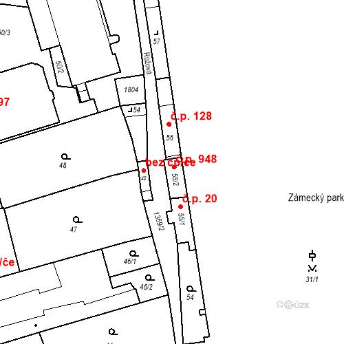 Katastrální mapa Stavební objekt Blansko 948, Blansko