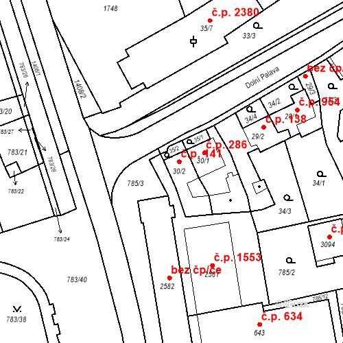 Katastrální mapa Stavební objekt Blansko 141, Blansko