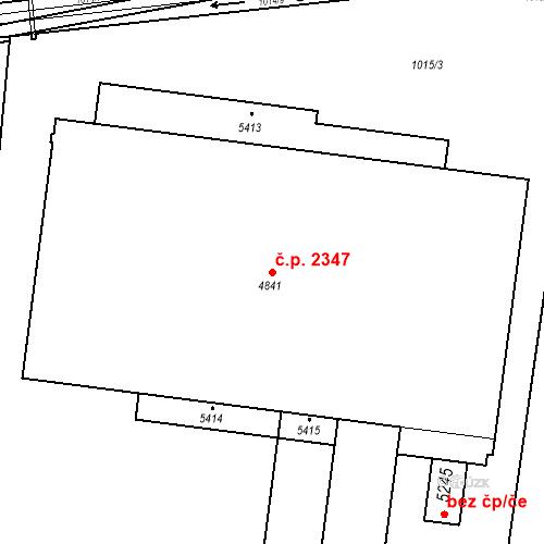 Katastrální mapa Stavební objekt Blansko 2347, Blansko