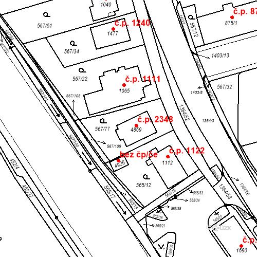 Katastrální mapa Stavební objekt Blansko 2348, Blansko