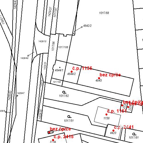 Katastrální mapa Stavební objekt Blansko 1135, Blansko