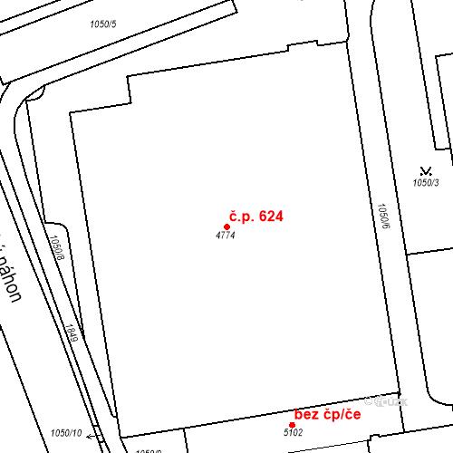 Katastrální mapa Stavební objekt Blansko 624, Blansko