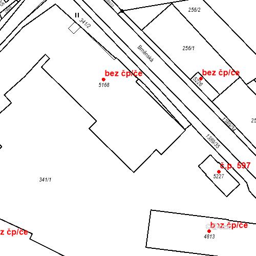 Katastrální mapa Stavební objekt Blansko 110