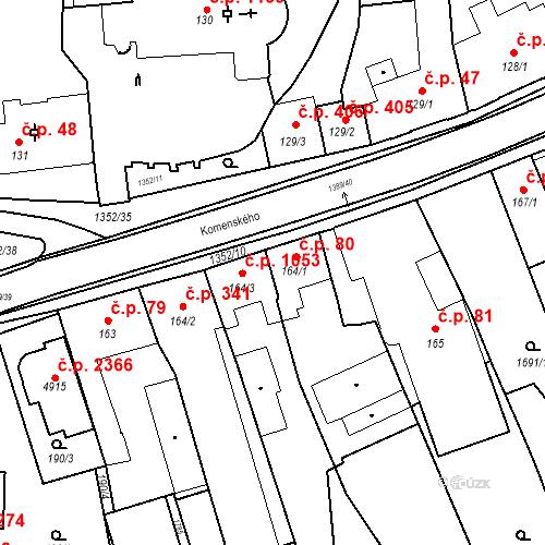 Katastrální mapa Stavební objekt Blansko 80, Blansko