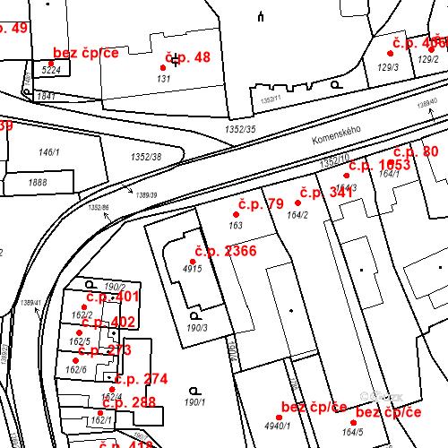 Katastrální mapa Stavební objekt Blansko 79, Blansko
